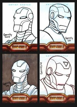 Iron Man Sketch Cards 2 by mebooky
