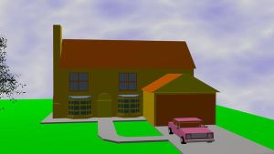 simpsons house and car by jy1971