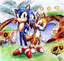 Green Hill Zone by Kyubi-the-Fox