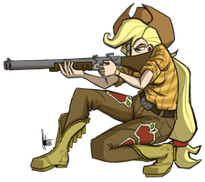 Shotgun Applejack by TheArtrix