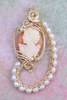 Romance Cameo Pendant by Wiresculptress