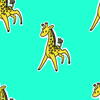 Seamless Giraffe Pattern by issabissabel