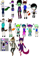 UNSOLD ADOPTS (OPEN) (Set-Price now) by Nine-Broken-Clocks
