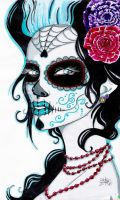 Sugar Skull Lady by ZombieCherry13