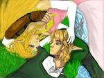 Link and Zelda by ProtoCall13o2