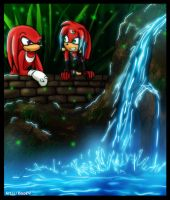 Coral and Knuckles - Kiriban by Roxo89