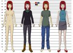 JENNY Height Chart (By My Side - Graphic Novel) by MISComic