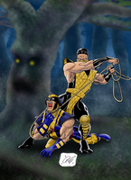 Scorpion vs. Wolverine by DCompton