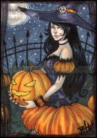 aceo - pumpkin queen by pencil-butter