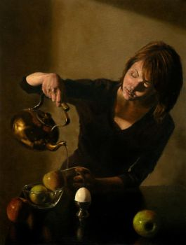 Woman With a Kettle by evincent
