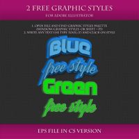 FREE Colorful Graphic Styles for Design #6 by Love-Kay