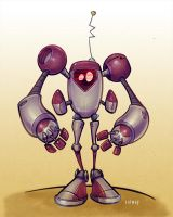 Robot1(red) by Kravenous