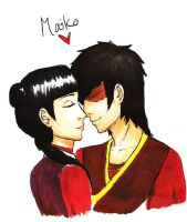 Zuko and Mai by JoeyHazelLM