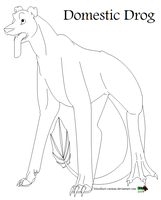 Free Domestic Drog Lineart by CarmanMM-Dirda