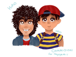 Commission: Hiro and Ness by K0NS2