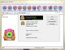 Donuts Theme For Winrar by xxmsrockxx