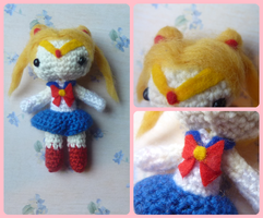 Sailor Moon - chibi amigurumi Usagi Tsukino doll by Ulvkatt