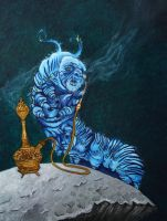 Alice in Wonderland: Caterpillar/oil reproduction by Anmaz