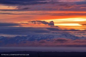 Mt. Redoubt Steaming by MSimpsonPhotos