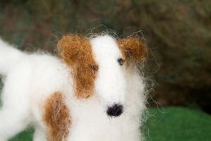 Borzoi Detail- Felted Fuzzies by feltAliza