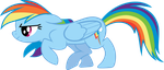 Sneaky Rainbow Dash by uxyd