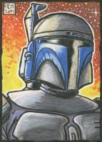 Jango Fett sketch card by Reznorix