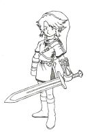 Link lineart by captainsponge