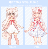 Draw it again meme (1 year diff) by Elissya-chan