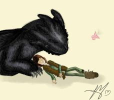 Toothless and hiccup nap by shadowgirl98