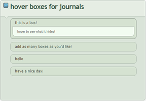 Hover Boxes - Journal Code by sulyia