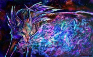 galaxy feather by leptailurus-serval