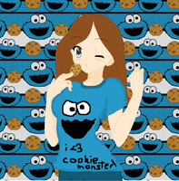 I Love Cookie Monster :3 by gem-313-gem