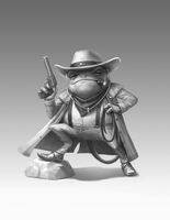 Frog-cowboy by Dacet
