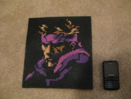 Metal Gear Snake Bead Art by Branbot