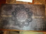 Magic the Gathering Leather Playmat by deadlanceSteamworks