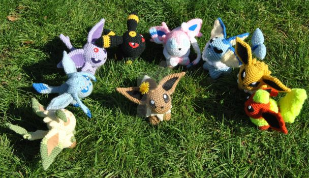 Eeveelution Outdoors Group Shot 2 by ChibiSayuriEtsy