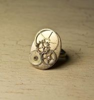 Steampunk ring by skuggsida