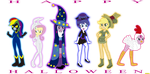 Halloween in  Equestria Girls by CoNiKiBlaSu-fan
