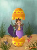 easter mermaid by messypink