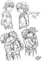 Hijack Swag AU Sketches by Laven96