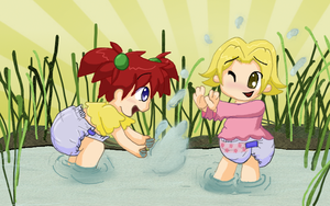 Splashing by toddlergirl