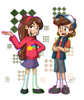 Mabel and Dipper Remake by trujayy