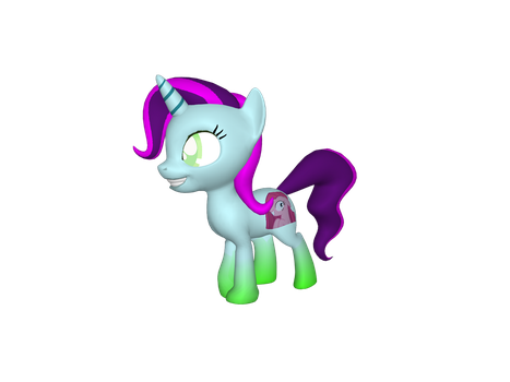 3D Pony Filly Adoptable by Fionnin4ever