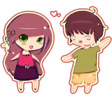 Chibi Couple by DreamsComeAlive