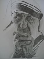 Mother Teresa by madhavvv