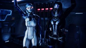 EDI and Tali'Zorah vas Normandy by johntesh
