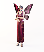 Ada Wong Dress Butterfly Wings by Ada-Momiji-Forever