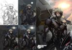 Raiden Metal Gear Solid (Stages) by RecklessHero