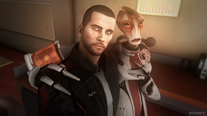 Selfie with famous singer Mordin (Mass Effect 3) by toxioneer
