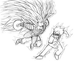 Raditz vs. Vegeta WIP by DetectiveX